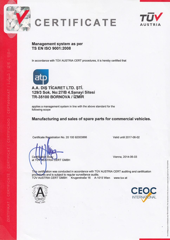 ATP-Diesel-iso9001